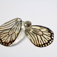 Real Butterfly Wing Ear Gauge Add-On - Plug - Custom Made - Ear Gauges - Gauged Earrings