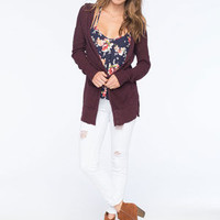 FULL TILT Essential Womens Hooded Cardigan | Essentials