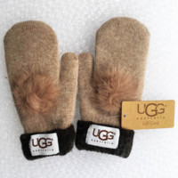 UGG Winter Women Keep warm Lovely Glove Khaki