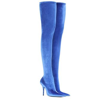 KAYDENCE Above The Knee Stretch Fitted Pointed Toe Boots