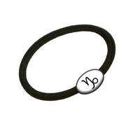 Zodiac Sign Capricorn Hair Band Tie Elastic Ponytail Holder