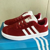 Adidas New fashion couple sports leisure shoes Burgundy