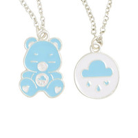 Care Bears Grumpy Bear Double Layer Necklace Set