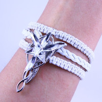 Lord Of the Rings Arwen Evenstar Bracelet-Seven star drill is a natural zircon