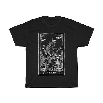 Death Card Tarot Unisex Heavy Cotton Tee