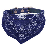 Dog Cat Bandana Lovely Medium Adjustable Pet  Scarf  Blue  Collar Neckerchief