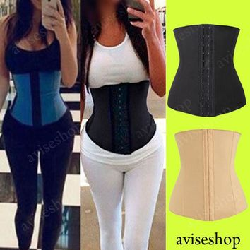 #1 Underbust Corset Waist Trainer Cincher Girdle Sports Body Shaper Workout