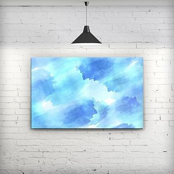 Abstract Blue Stroked Watercolour - Fine-Art Wall Canvas Prints