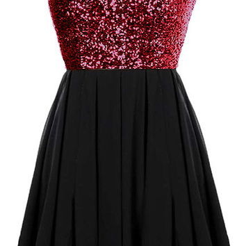 Glitter Fever Dress | Black Red Sequin Party Dresses | Rickety Rack