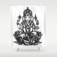 Ganesh Shower Curtain by Kristy Patterson Design