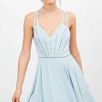 Silence + Noise Arianna Ladder Lace Fit + Flare Dress