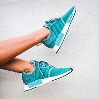 Adidas NMD Women Fashion Trending Running Sports Shoes Green