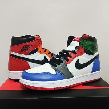 Air Jordan 1 Retro Rainbow Sneaker