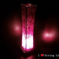 Pink Tread Lantern Table Lantern Oriental Style for home decorate (Converter plug included)