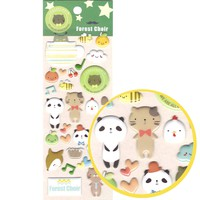Cartoon Kitty Cat and Panda Shaped Animal Puffy Stickers for Scrapbooking