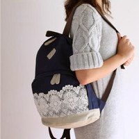 Fashionable backpack, backpack for middle school students, travel package,Computer bag,lace backpack