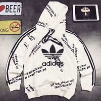 Adidas Women Man Fashion Embroidery Beads Top Sweater Pullover Hoodie G-A-GHSY-1