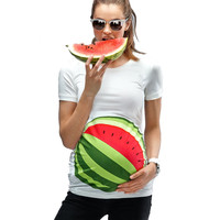 Summer Maternity Clothes For Pregnant Women Pregnancy Clothes Thin 3D Printed T Shirt For Maternity Women Cute Mom Tops SC106