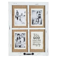Vintage White Blessings Window Collage Frame | Hobby Lobby