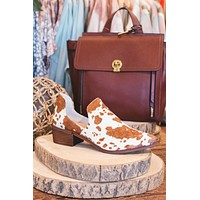 Fortune Side Cut Out Bootie, Brown/White | Chinese Laundry