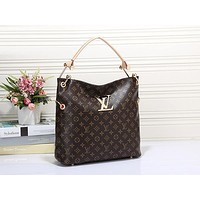 Lv Louis Vuitton Women Leather Zipper Shopping Crossbody Shoulder Bag Satchel