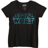Star Wars Women's  Starry Logo Plus Size Girls Jr Black