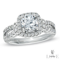 Vera Wang LOVE Collection 2 CT. T.W. Diamond Split Shank Engagement Ring in 14K White Gold - View All Rings - Zales