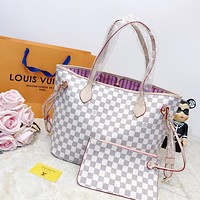 shosouvenir Louis Vuitton LV Lattice Neverfull MM Bag