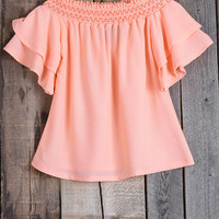 Cupshe Sweet Success Falbala Off the Shoulder Top