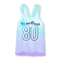 Girls Sleeveless Embellished Racer-Back Ombre Graphic Tank Top | The Children's Place