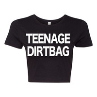 Teenage Dirtbag shirt Rock Band crop top t shirt crop top shirt tank t shirt tshirt BLACK