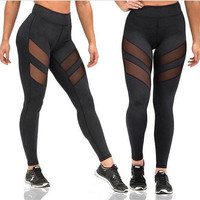 Women Leggings Yoga Fitness Running Gym Stretch Sports Athletic Clothes