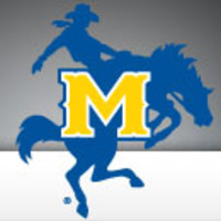 McNeese State - McNeese State White Twill Unstructured Low Profile Hat Cowboy w/ Puff M