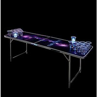 Glowing Galaxy Beer Pong Table - 6.5 Ft - Spencer's