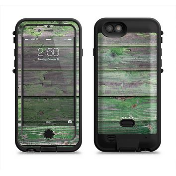 The Wooden Planks with Chipped Green Paint  iPhone 6/6s Plus LifeProof Fre POWER Case Skin Kit