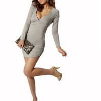 Krazy Sexy Club Cocktail Party Evening Dress #082 Gray US Size 0-6