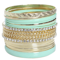 15 Chain Bangle Set | Shop Jewelry at Wet Seal