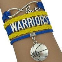 Infinity Collection NBA Golden State Warriors Bracelet