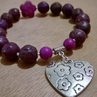 Exquisite Charm Bracelet - Mio Amore (Purple) from Pelhuaz by Red