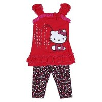 Hello Kitty™ Infant Toddler Girls' 2 Piece Top - Red