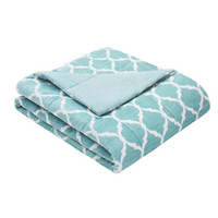 "60""x70"" Adult Weighted Blanket-Aqua-Weighted Blanket for Adult, Teen, Anxiety, PTSD, Insomnia, Autism, Aspergers,"