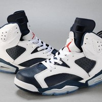 Air Jordan 6 Retro AJ6 VI White/Navy Men Basketball shoes US 7-13