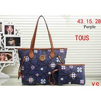 TOUS 2018 spring and summer new ladies handbag bag two-piece F-XS-PJ-BB Purple