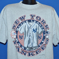 90s New York Yankees Historic Pinstripe Uniform t-shirt Large