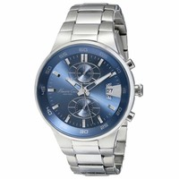 Kenneth Cole KC9346 Men's New York Sport Blue Dial Steel Bracelet Chronograph Watch