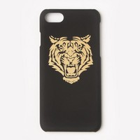 Missguided - Gold Metallic Tiger iPhone 7 Case