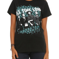 All Time Low Eye Heart Pattern Girls T-Shirt