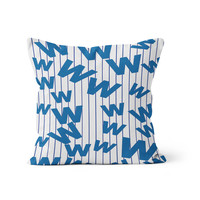 Cubs Flying W Flag Pillow