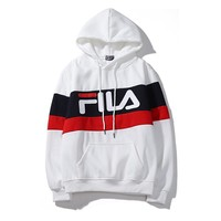 FILA Hoodies Trending Womens Pullover Top Sweatshirt