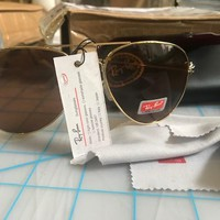 Authentic RAY-BAN Shooter Ambermatic Aviator Sunglass RB 3138 - 001/4A NEW 58mm